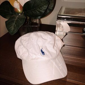 White Ralph Lauren Polo Sport Hat